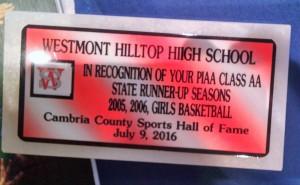 Westmont Hilltop girls basketball state runner-up teams were honored