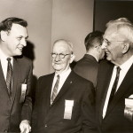 Bill Wilson, Andrew Kerr and Tom Nokes, left to right, during the 1965 hall of fame ceremony.