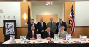 2018 Cambria County Sports Hall of Fame Committe, front row, from left, Mike Mastovich, Tom Chernisky, Amy Buxbaum; Standing, from left, Keith Rummell, Tom Fleming, Paul Litwalk, Sam Ross Jr. Not in photograph are Chairman Bruce Haselrig, Jack Buchan.