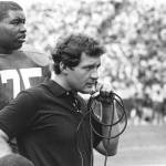 University of Georgia's John Kasay confers with coaching staff.