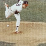 Tom McGough on the mound in the minors.