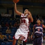 Samantha Pollino heads to the hoop for Duquesne