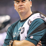 Chris Peduzzi with Eagles