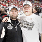 Dana Heinze and Chris Stewart Stanley Cup champs