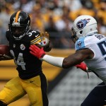 LaRod with Steelers vis Titans 2013