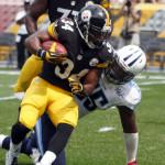 LaRod with Steelers vs Titans 2