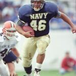 Brad Stramanak carries for Navy.