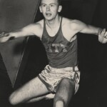 Ed Sherlock competing in track and field for Pitt.